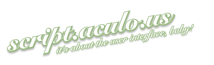 Scriptaculous Logo in Script.aculo.us 1.8.3 verffentlicht - Ajaxer