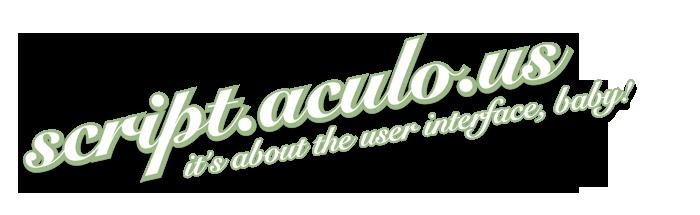 Scriptaculous Logo in Script.aculo.us 1.8.3 veröffentlicht - Ajaxer